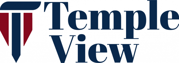 Temple View NEW logo as of Aug 2020